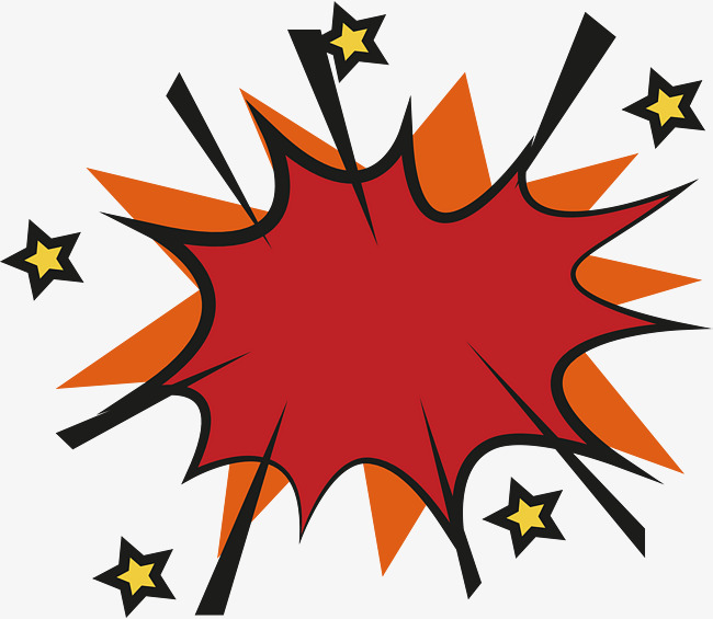 650x565 Red Explosion Effect Sticker, Explosion Vector, Sticker Vector