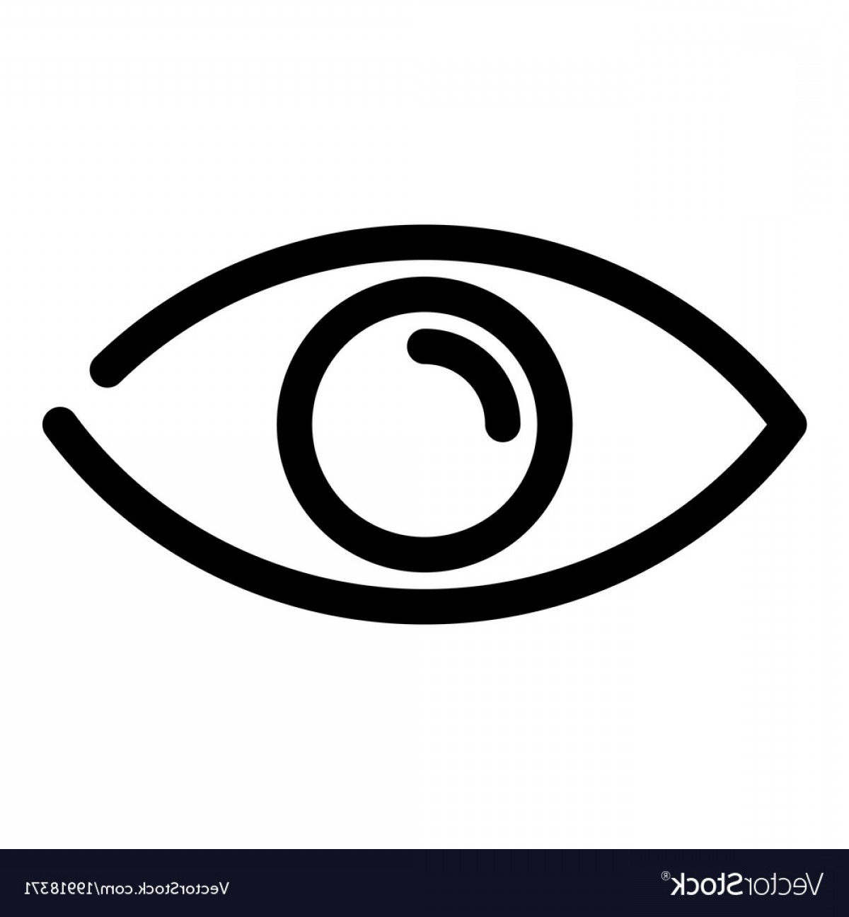 1200x1296 Eye Icon Symbol Of Preview Or Searching Outline Vector Orangiausa