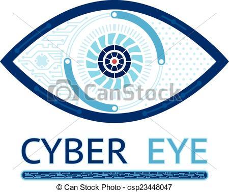 450x377 Cyber Eye Icon. Cyber Eye Symbol Vector Icon Or Cyber Logo Concept.