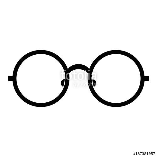 500x500 Children Eyeglasses Icon. Simple Illustration Of Children