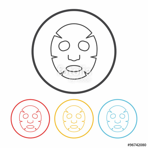 500x500 Facial Mask Line Icon Stock Image And Royalty Free Vector Files