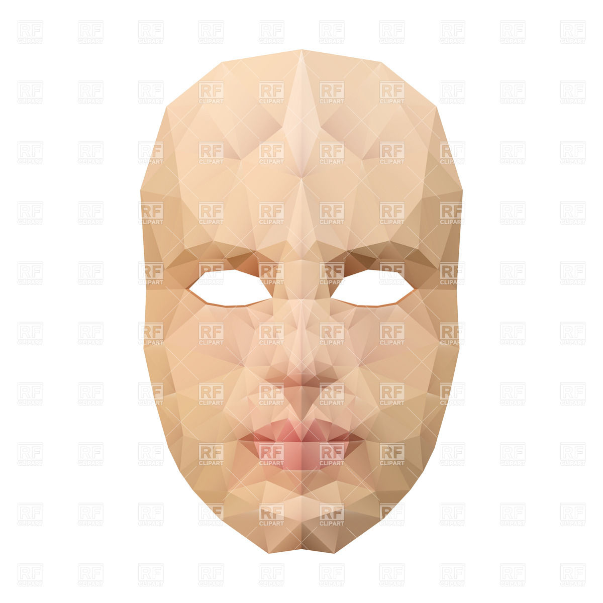 1200x1200 Polygonal Face Mask On White Background Vector Image Vector