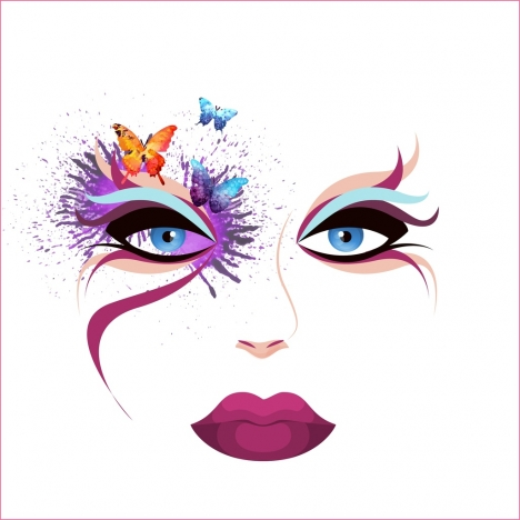 468x468 Face Paint Vectors Stock For Free Download About (36) Vectors