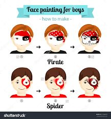 217x232 Face Painting Icons. Kids Faces With Animals And Heroes Painting