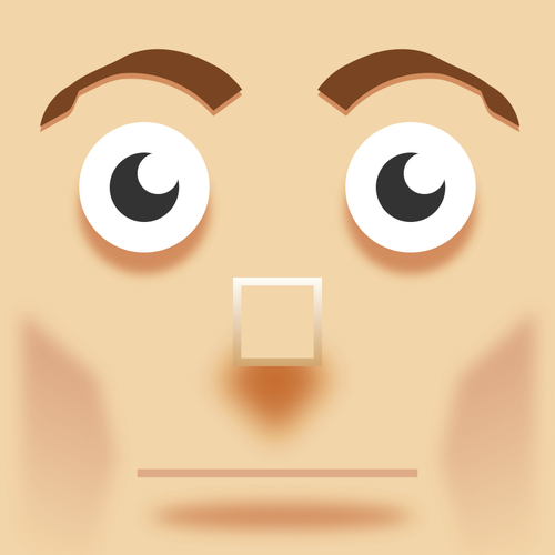500x500 Vector Image Of Square Man Face Painting Public Domain Vectors