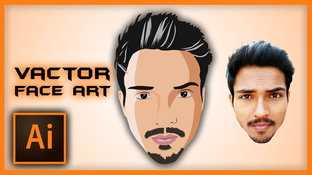 1280x720 Illustrator Tutorial Vector Face Art Using Pen Tool Speed Art
