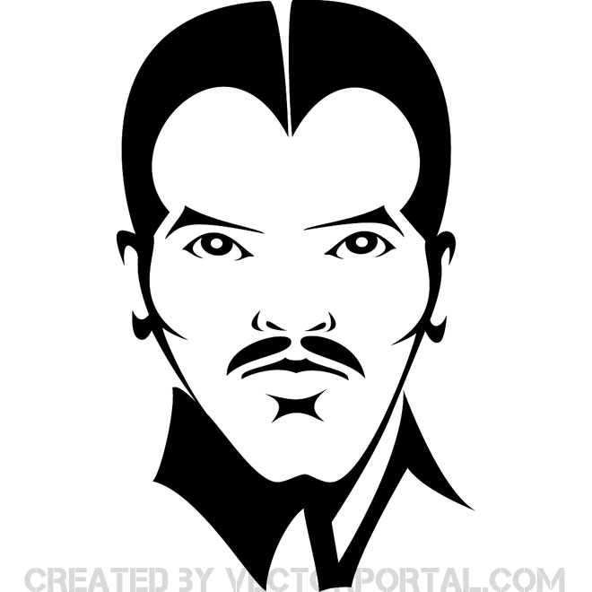 660x660 Man Face Vector
