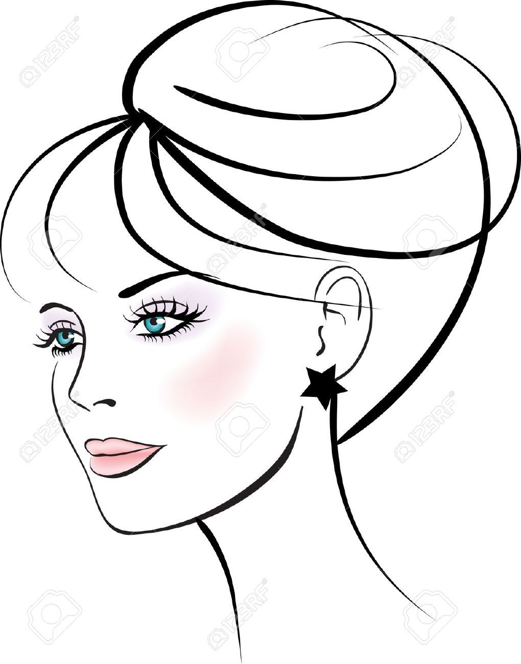 1020x1300 Woman Face Vector