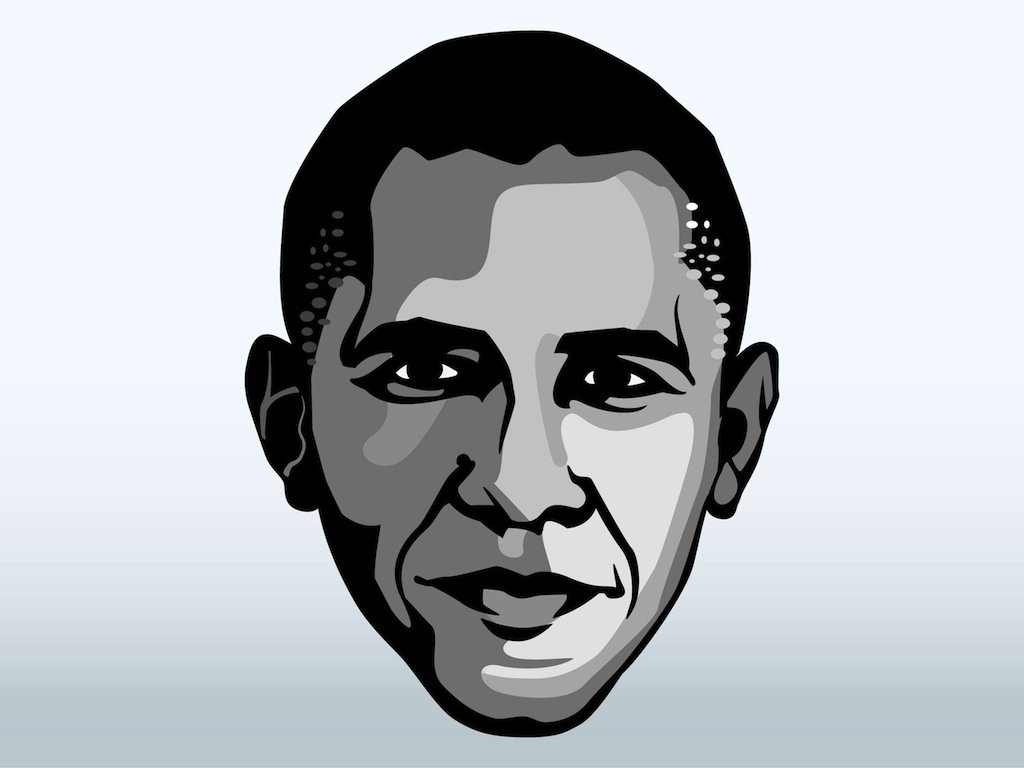 1024x768 Barack Obama Face Vector Art Amp Graphics