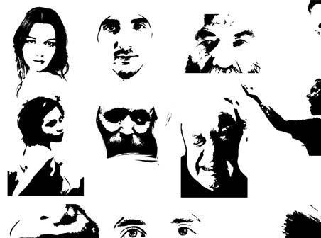 452x336 Creative Vector Face Illustrations