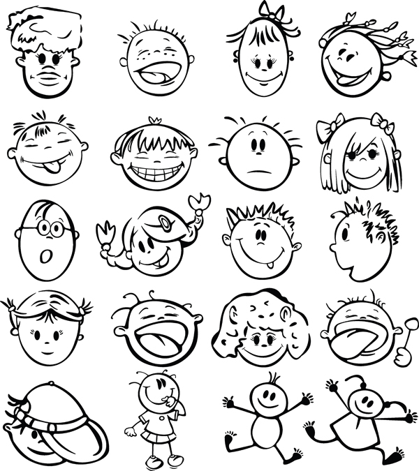 600x675 Cute Cartoon Face Vector Free Vector 4vector