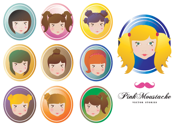 600x430 Doll Face Vector Free 123freevectors