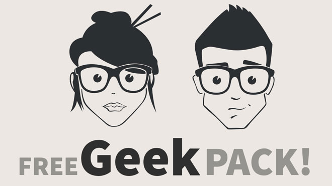 660x371 Free Face Vector Geek Pack