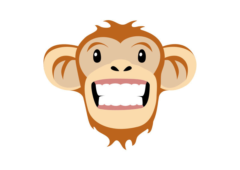 800x566 Monkey Face Free Vector