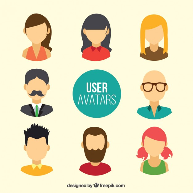 626x626 User Avatars Without Faces Vector Free Download