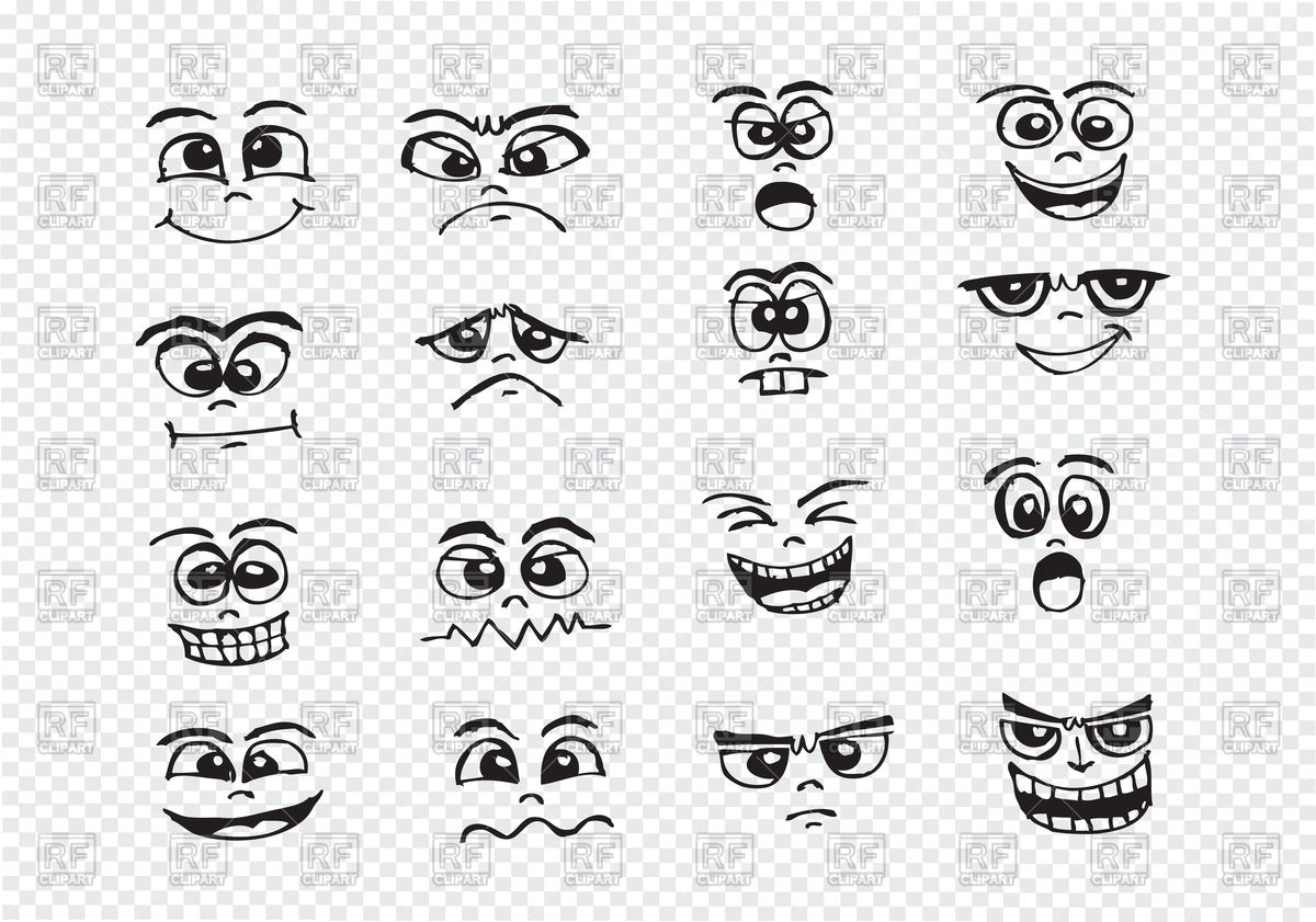 1200x841 Cartoon Faces Set Vector Image Vector Artwork Of People Tumdee