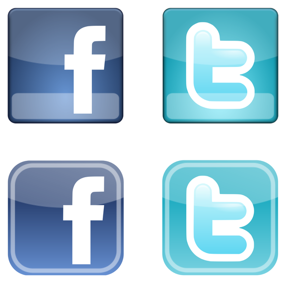 576x570 Facebook Twitter Icons