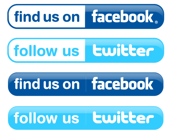 600x470 Facebook And Twitter Buttons Vector Free 123freevectors