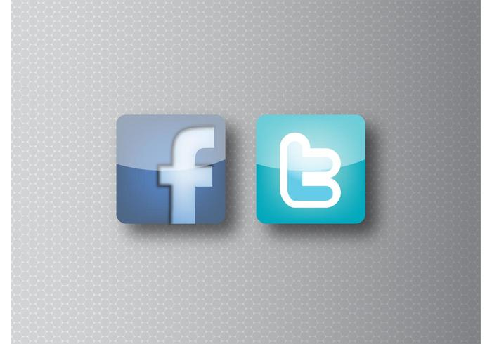 700x490 Facebook And Twitter Icons