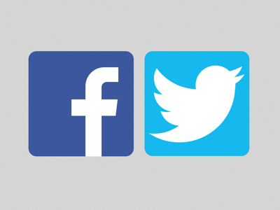 400x300 Facebook And Twitter Logo Sketch Freebie