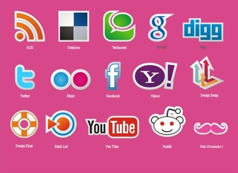 487x353 Facebook Twitter Youtube Google Icons Free Vector Download (23,327