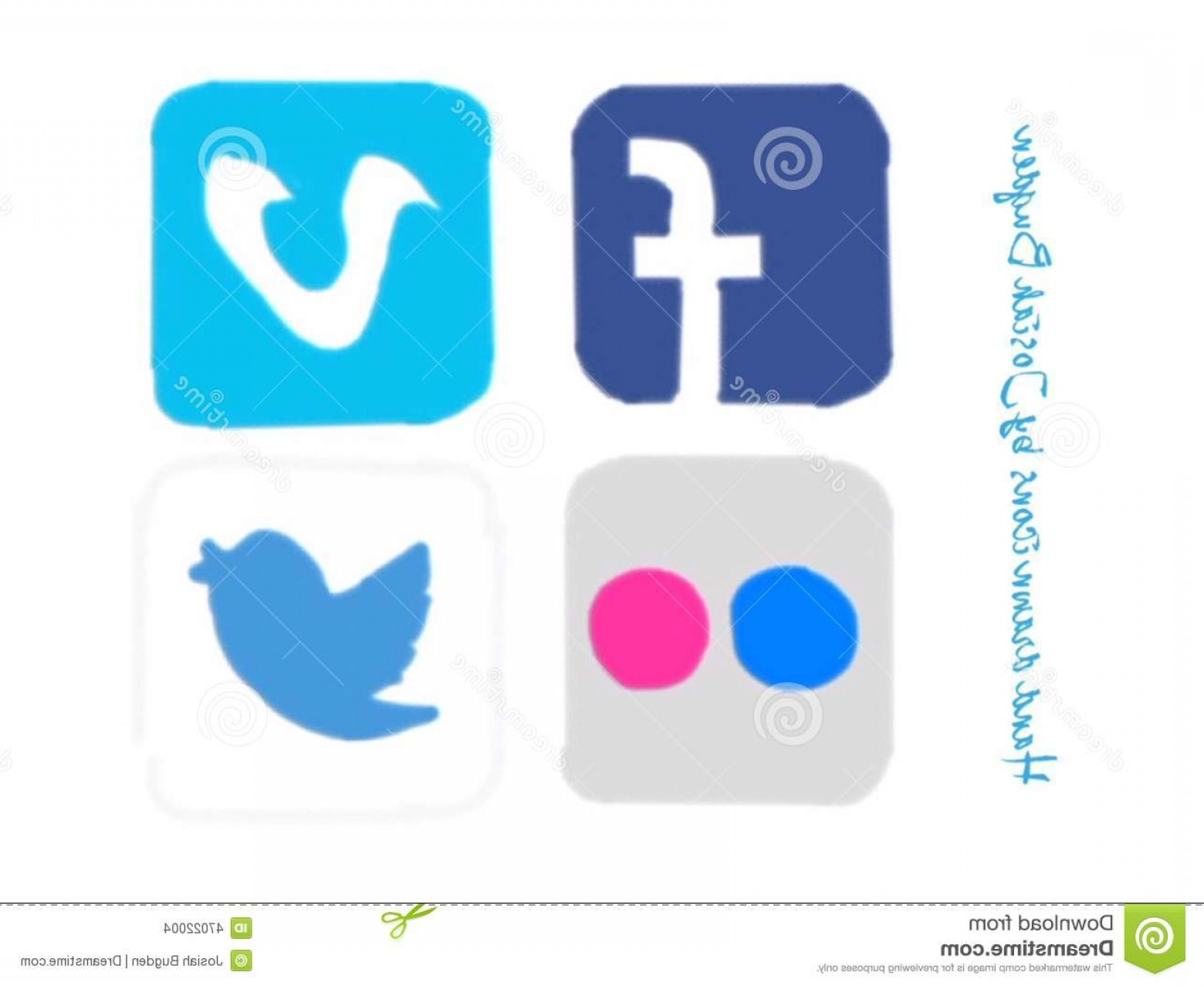 1560x1278 Editorial Stock Image Hand Drawn Social Media Icons Facebook Vimeo