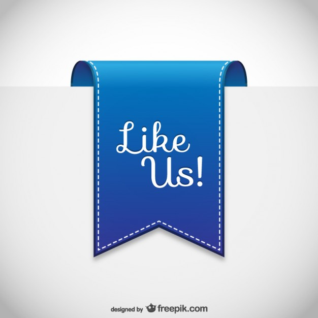 626x626 Facebook Like Button Free Vector 123freevectors