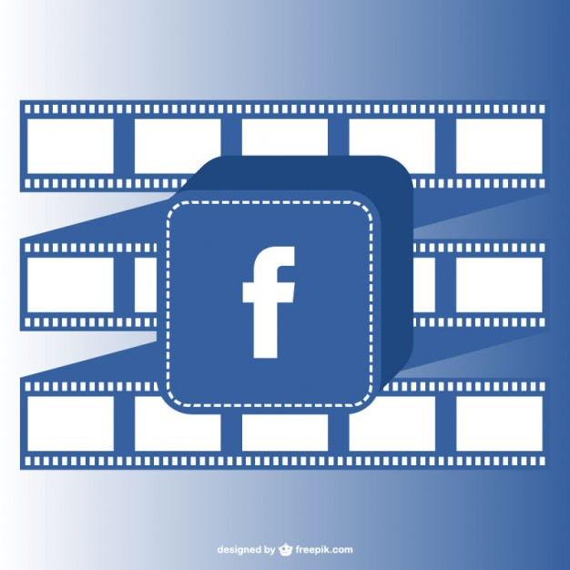 626x626 Facebook Button And Film Roll Vector Free Download