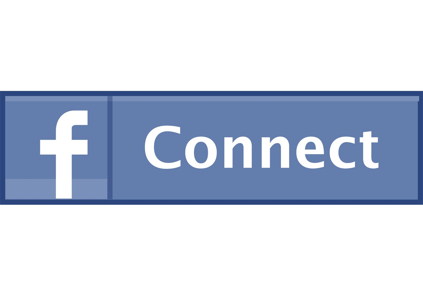 1400x980 Free Fb Connect Button Vector