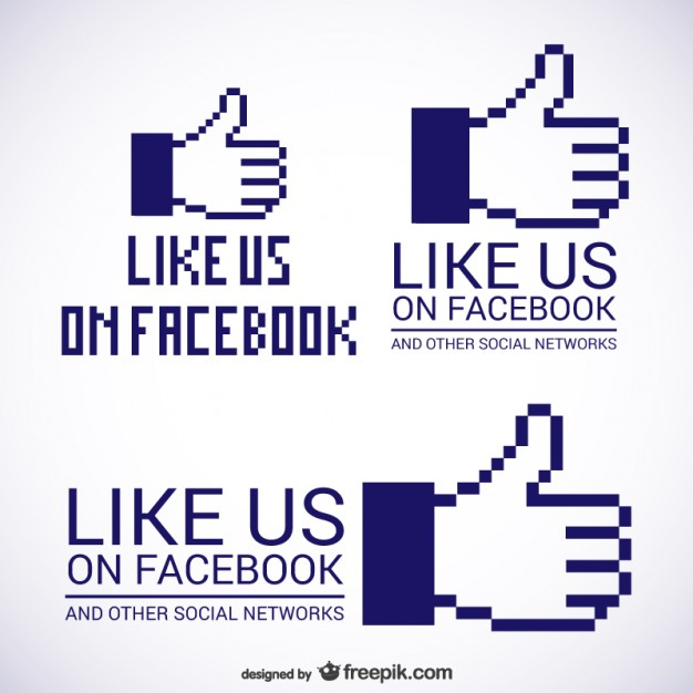 626x626 Like Us On Facebook Logos Vector Free Download