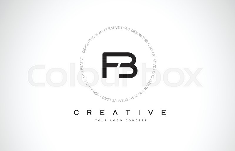 800x515 Fb F B Logo Design With Black And White Creative Icon Text Letter