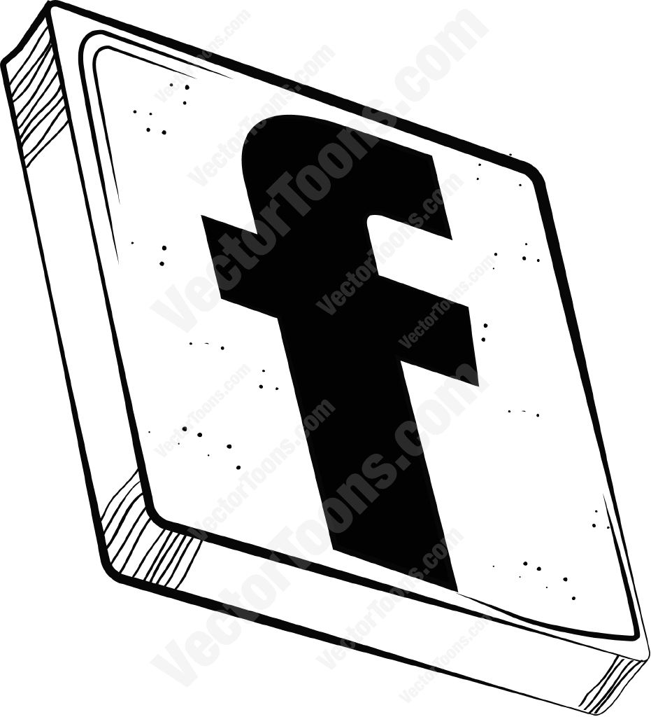 931x1024 Facebook Icon Clipart By Vector Toons