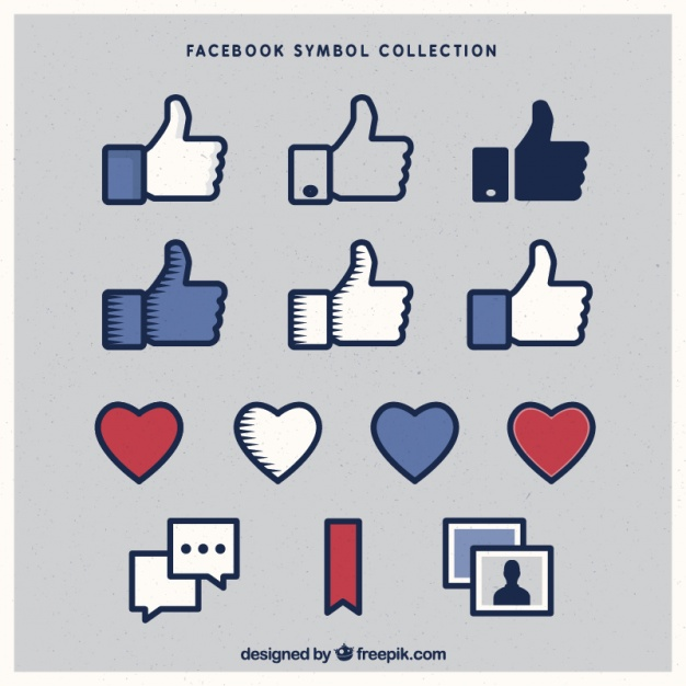 626x626 Variety Of Facebook Icons Vector Free Download
