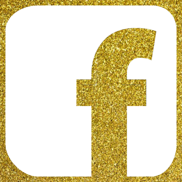 640x640 Facebook Icon, Vector, Gold Color Glitter Png And Vector For Free