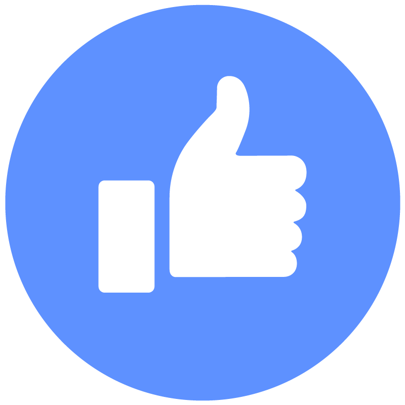 800x800 Facebook Like Thumbs Up Round Icon Vector Logo Free Vector