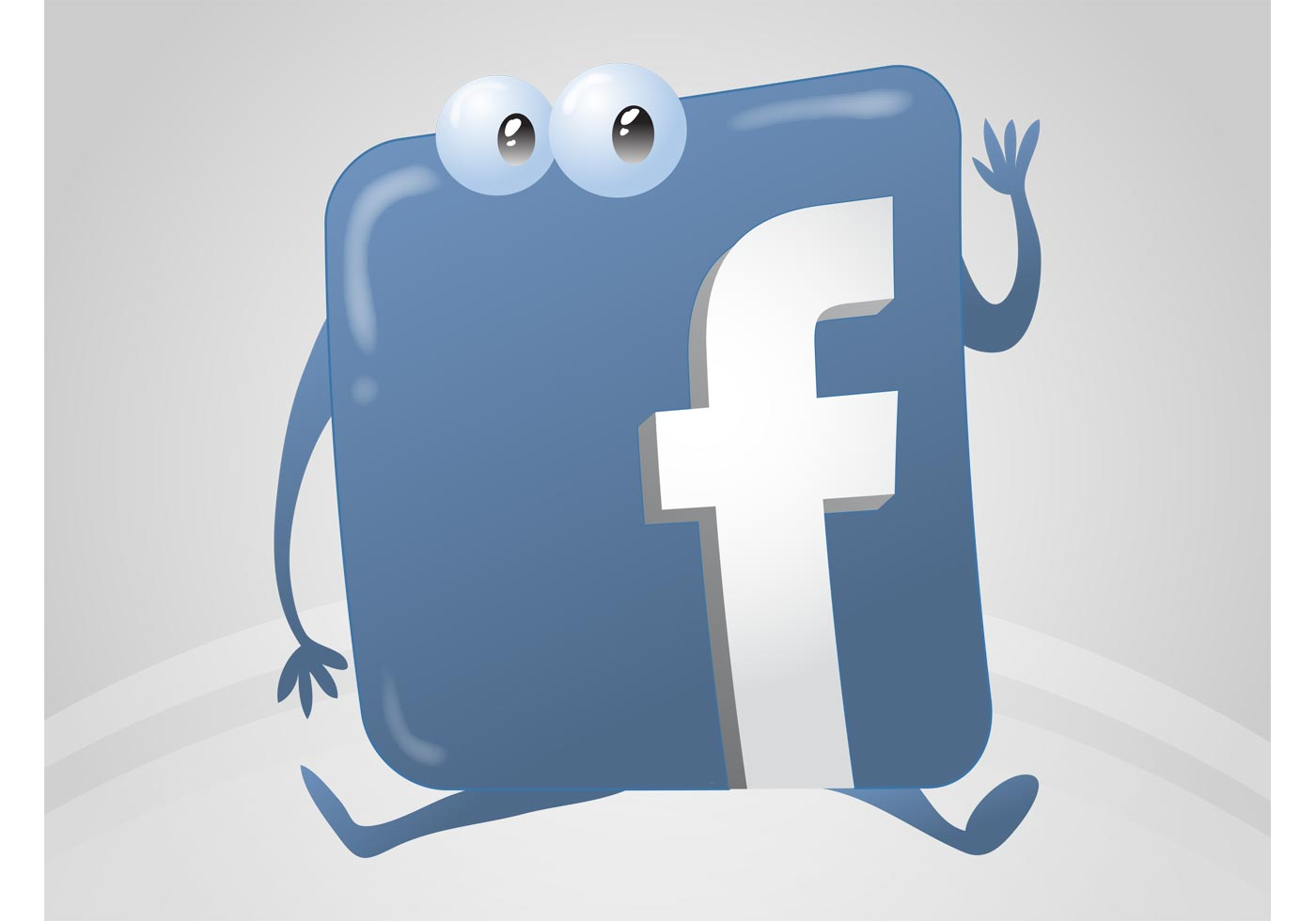 1400x980 Facebook Logo Cartoon