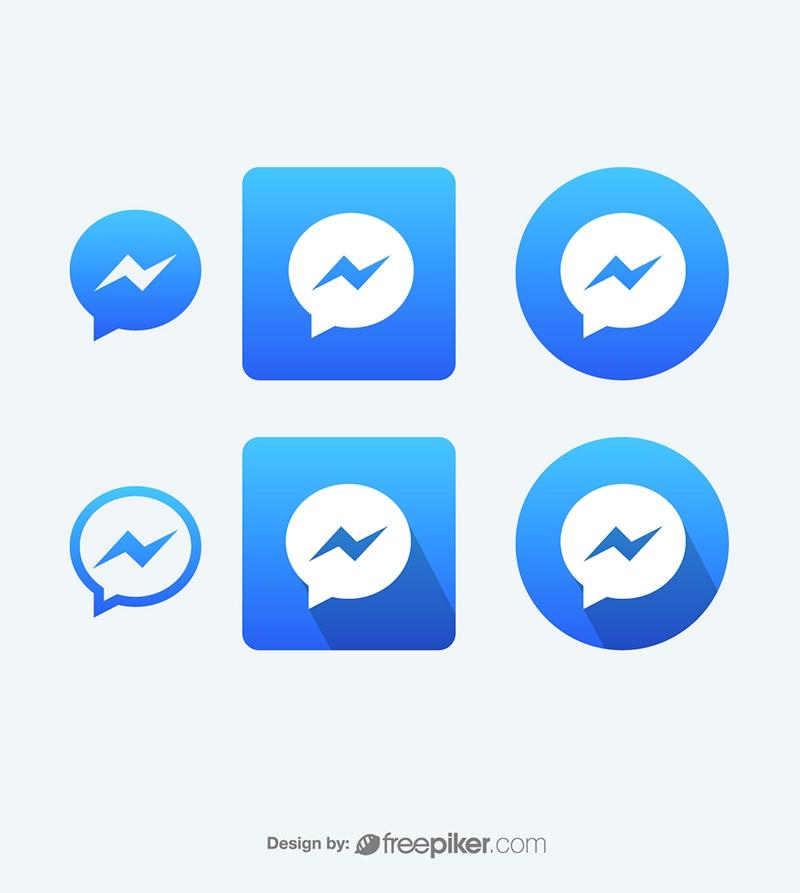 800x893 Freepiker Facebook Messenger Vector Icons Vector Icons