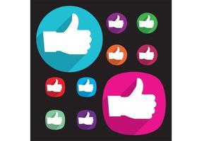 286x200 Facebook Icon Vector
