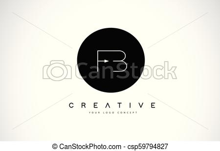 450x309 Fb F B Logo Design With Black And White Creative Text Letter