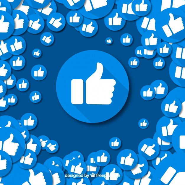 626x626 Facebook Background With Like Icons Vector Free Download