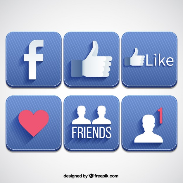 626x626 Who Designed The Facebook Logo Facebook Icon Collection In Flat