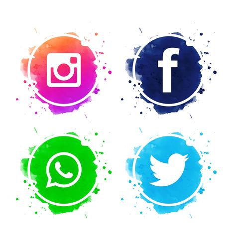 490x490 Facebook And Twitter Icons Vector Free Download
