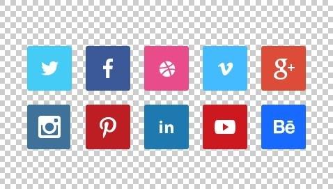 478x271 Free 10 Tiny Flat Social Icons Psd