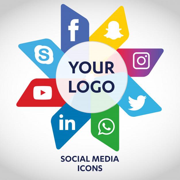 626x626 Set Of Most Popular Social Media Icons, Twitter, Youtube, Whatsapp