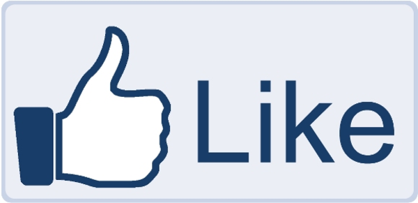 600x291 Facebook Like Button Big Free Images