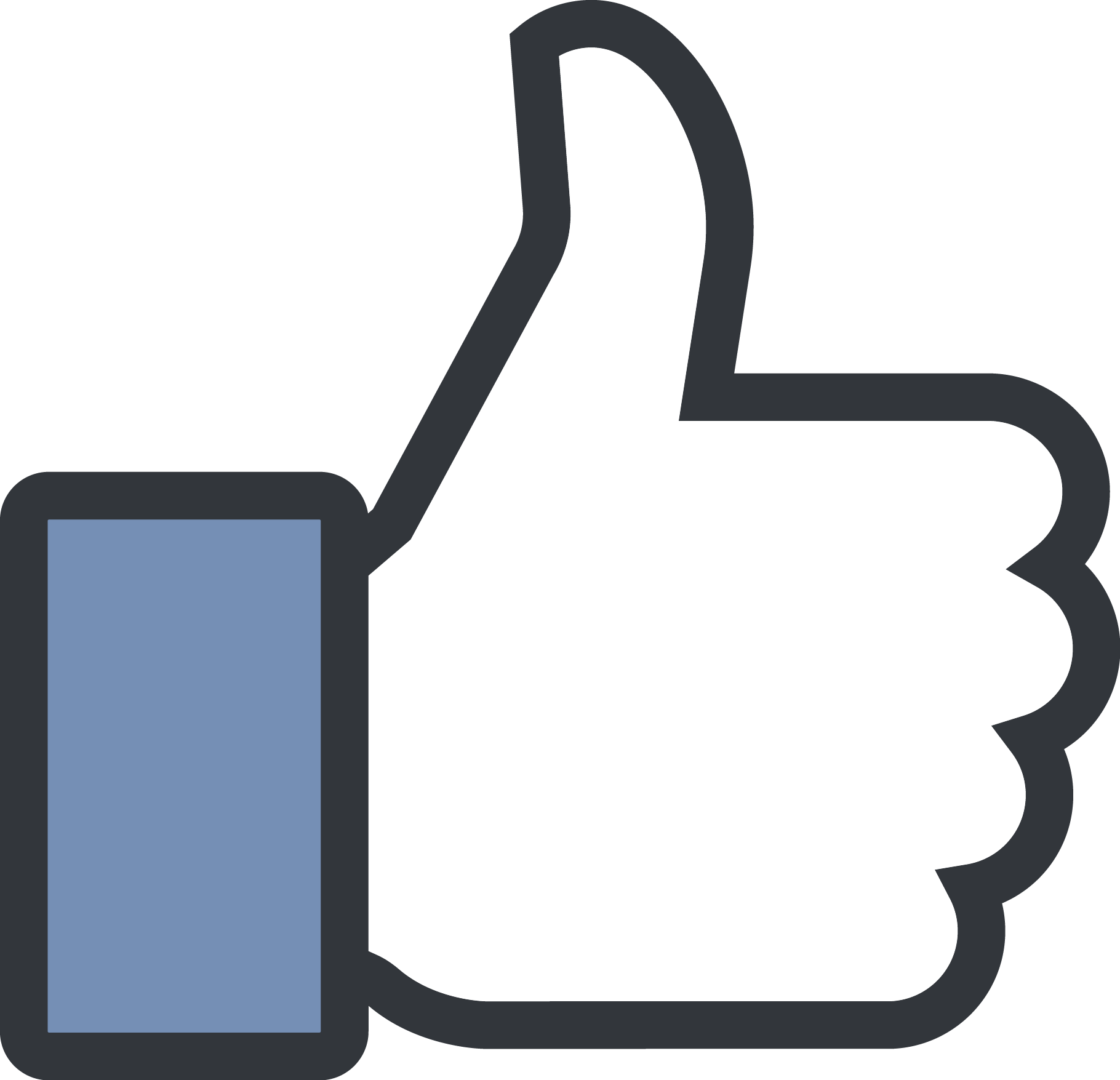 1820x1755 Facebook Like Button Vector Free Download Images