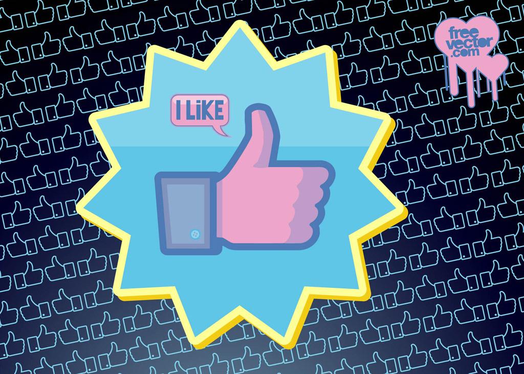 1024x730 Facebook Like Vector Button Vector Art Amp Graphics