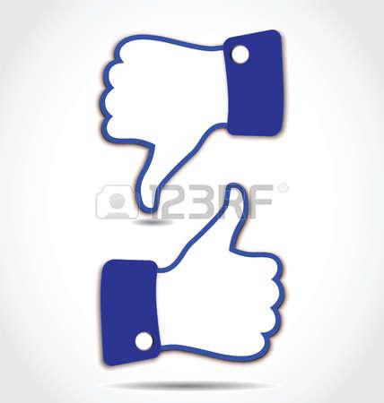 428x450 Facebook Like Button Clip Art Stock