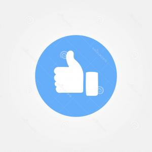300x300 Like Us On Facebook Button Vector Art Arenawp