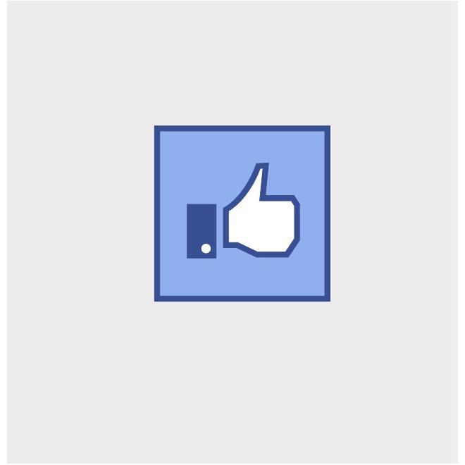 660x660 Facebook Like Vector Button